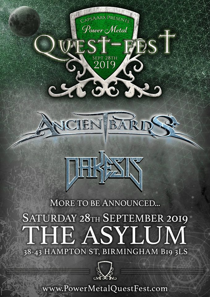 Ancient Bards - Headliners of Power Metal Quest Fest 2019